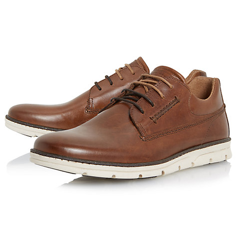Buy Dune Bachelor Leather Lace-Up Shoes, Tan Online at johnlewis.com