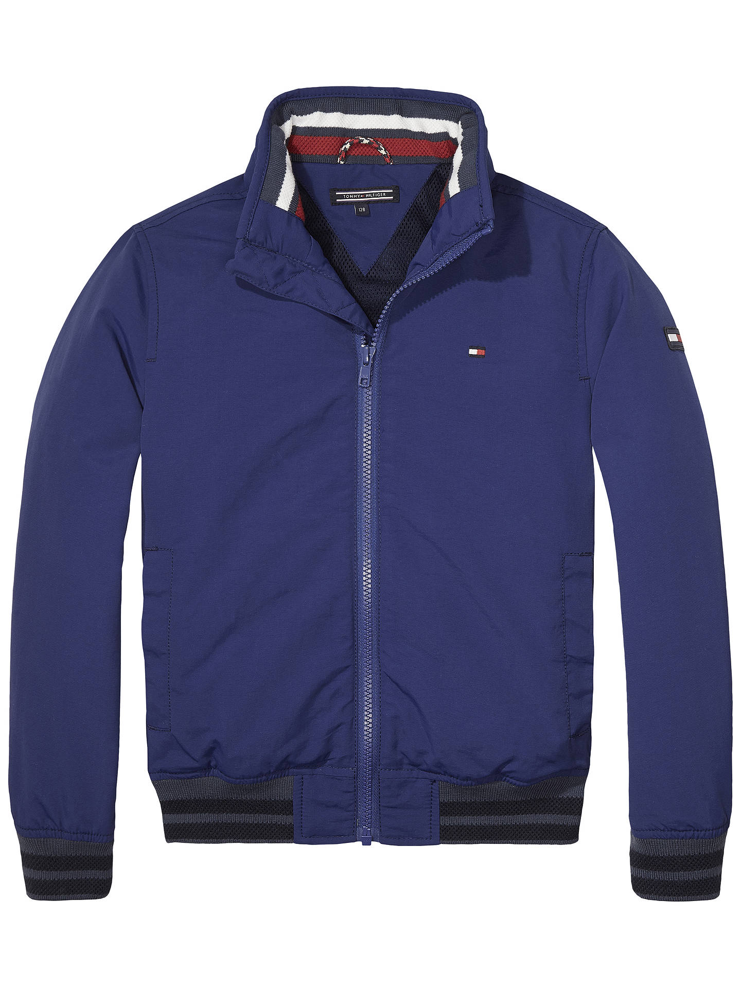 fb072d36 Buy Tommy Hilfiger Boys' Ame Bomber Jacket, Navy, 8 years Online at  johnlewis ...