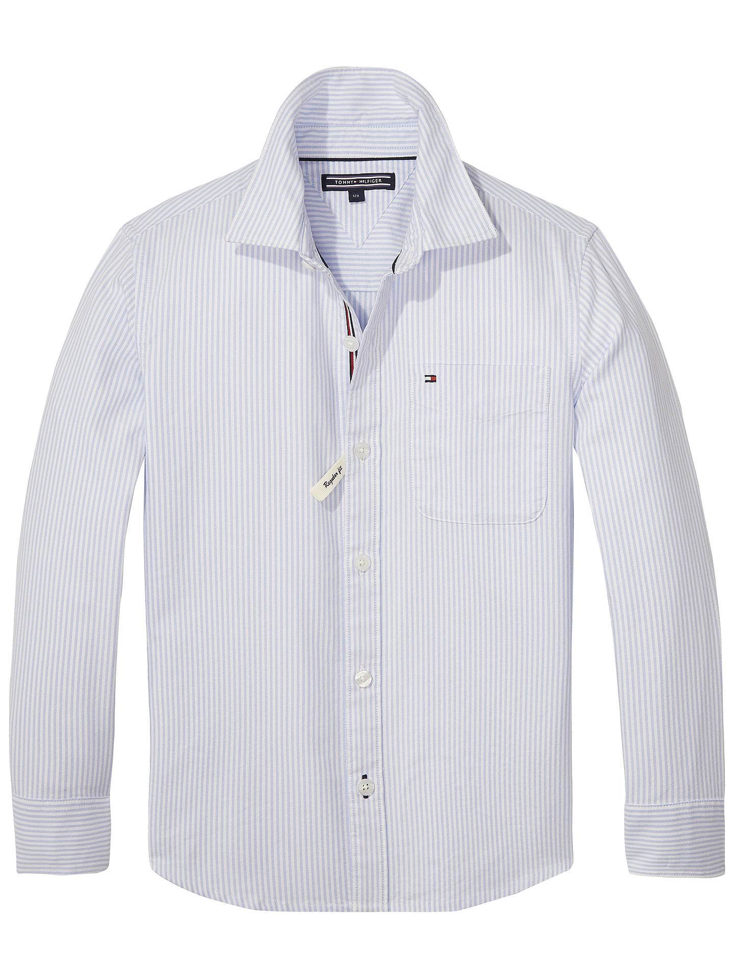 BuyTommy Hilfiger Ithaca Stripe Shirt, White, 3 years Online at  johnlewis.com ... 2f43493200