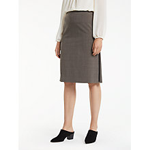 Buy Max Studio Check Skirt, Beige Online at johnlewis.com