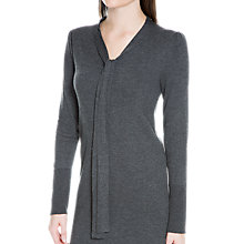 Buy Max Studio Tie Neck Sweater Dress, Heather Charcoal Online at johnlewis.com