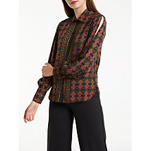 Buy Max Studio Long Sleeve Printed Shirt, Black/Red Online at johnlewis.com