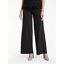 Buy Max Studio Wide Leg Ponte Trousers, Black Online at johnlewis.com