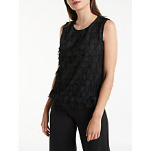 Buy Max Studio Sleeveless Fringe Detail Top, Black Online at johnlewis.com