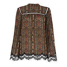 Buy Max Studio Long Sleeve Paisley Blouse, Wine Online at johnlewis.com