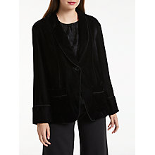 Buy Max Studio Velvet Jacket, Black Online at johnlewis.com