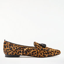 Buy Boden Ines Tassel Loafers, Leopard Online at johnlewis.com