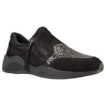 Buy Geox Omaya Breathable Trainers, Black Online at johnlewis.com