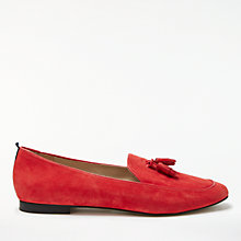 Buy Boden Ines Tassel Loafers, Post Box Red Online at johnlewis.com