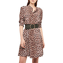 Buy Gerard Darel Animal Print Shirt Dress, Camel Online at johnlewis.com