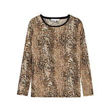 Buy Gerard Darel Animal Print T-shirt, Camel Online at johnlewis.com