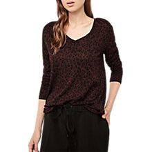 Buy Gerard Darel Spot Print T-shirt, Red/Black Online at johnlewis.com