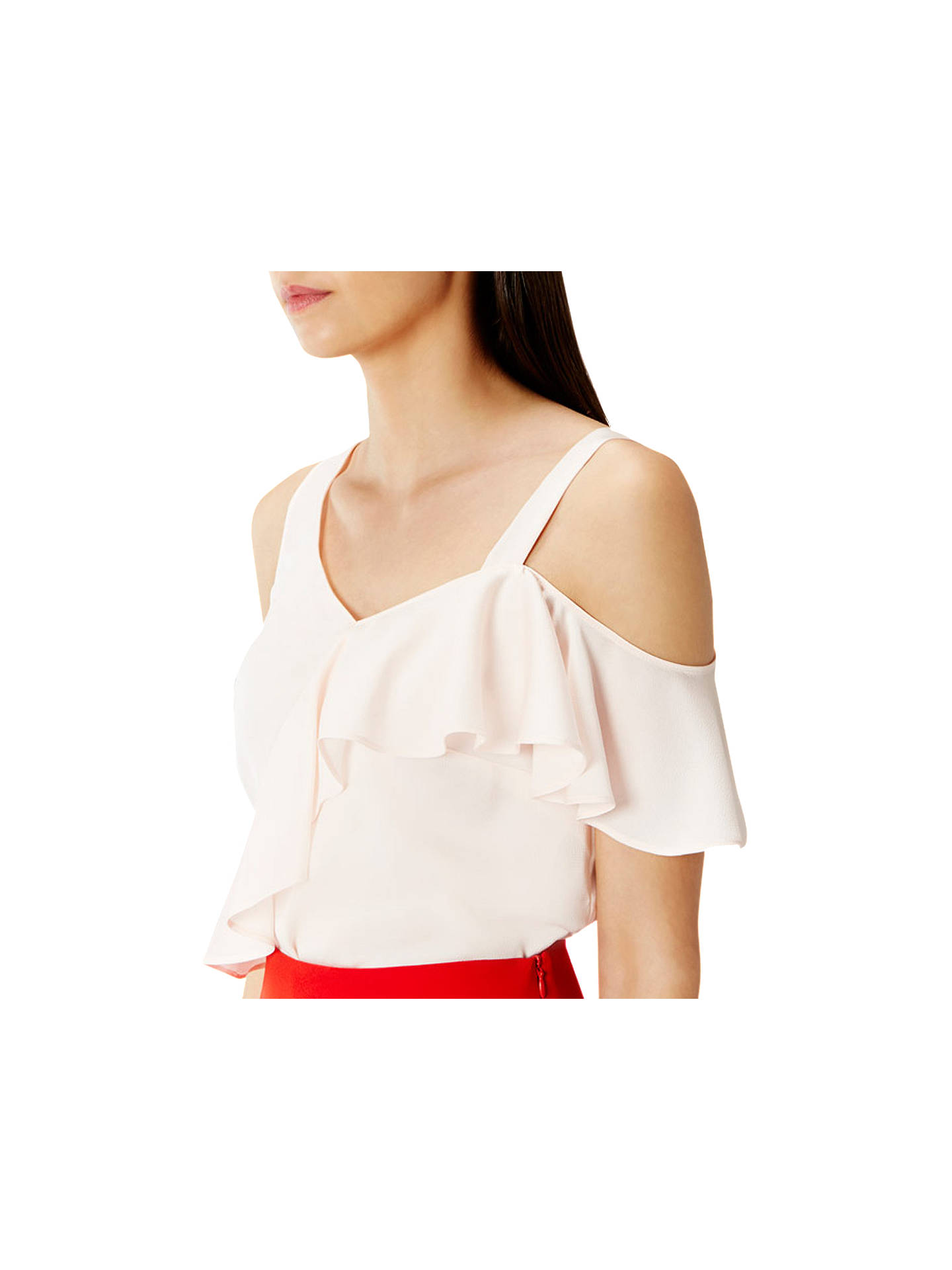 BuyCoast Emeli Frill Top, Blush, 6 Online at johnlewis.com