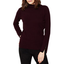 Buy Mint Velvet Funnel Neck Knitted Jumper, Dark Red Online at johnlewis.com