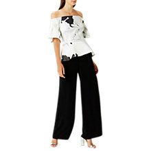 Buy Coast Valencia Wide Leg Trousers, Black Online at johnlewis.com