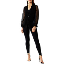 Buy Coast Olivia Organza Sleeve Jacket, Black Online at johnlewis.com
