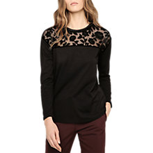 Buy Gerard Darel Lace Insert Top, Black Online at johnlewis.com