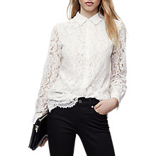 Buy Reiss Yasi Lace Blouse Online at johnlewis.com