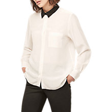 Buy Gerard Darel Contrast Collar Blouse, Ecru Online at johnlewis.com