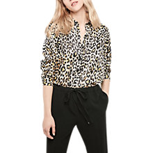 Buy Gerard Darel Animal Print Blouse, Beige Online at johnlewis.com
