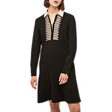 Buy Gerard Darel Embroidered Shirt Dress, Black Online at johnlewis.com