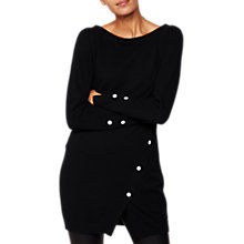 Buy Mint Velvet Asymmetric Tunic, Black Online at johnlewis.com