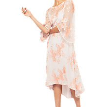 Buy Miss Selfridge Sequin Cape Sleeve Dress, Coral Online at johnlewis.com