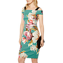 Buy Karen Millen Painterly Floral Print Dress, Multi Online at johnlewis.com