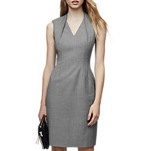 Buy Reiss Austin Tailored V-Neck Dress, Grey Online at johnlewis.com