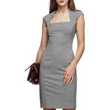 Buy Reiss Mason Tailored Houndstooth Dress, Black/White Online at johnlewis.com