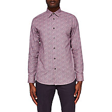 Buy Ted Baker Montpel Floral Shirt, Pink Online at johnlewis.com