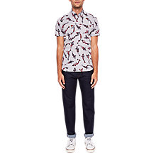 Buy Ted Baker Origine Straight Leg Jeans, Rinse Denim Online at johnlewis.com
