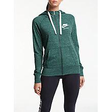 Buy Nike Sportswear Gym Vintage Full-Zip Hoodie, Teal Online at johnlewis.com