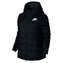 Buy Nike Short Sportswear Jacket, Black Online at johnlewis.com