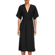 Buy Whistles Marta Wrap Dress, Black Online at johnlewis.com