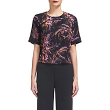 Buy Whistles Wren Print Top, Black/Multi Online at johnlewis.com