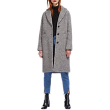 Buy Whistles Slim Drawn Coat, Grey Online at johnlewis.com