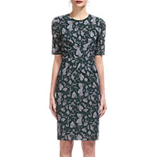 Buy Whistles Autumn Leaf Silk Bodycon Dress, Green/Multi Online at johnlewis.com