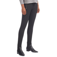 Buy Whistles Zip Front Stirrup Trousers, Black Online at johnlewis.com