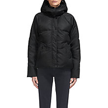 Buy Whistles Iva Casual Puffer Jacket, Black Online at johnlewis.com