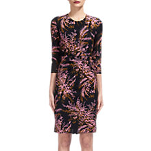 Buy Whistles Wren Silk Bodycon Dress, Black/Multi Online at johnlewis.com