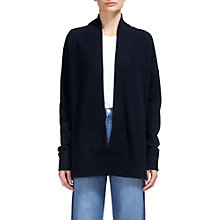 Buy Whistles Rib Hem Cardigan, Navy Online at johnlewis.com