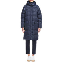 Buy Whistles Ash Padded Longline Coat, Navy Online at johnlewis.com
