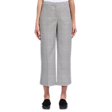 Buy Whistles Check Cropped Wide Leg Trousers, Multi Online at johnlewis.com