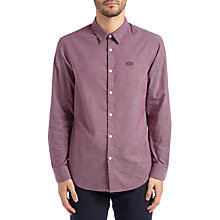 Buy BOSS Green C-Buster Shirt, Purple Online at johnlewis.com