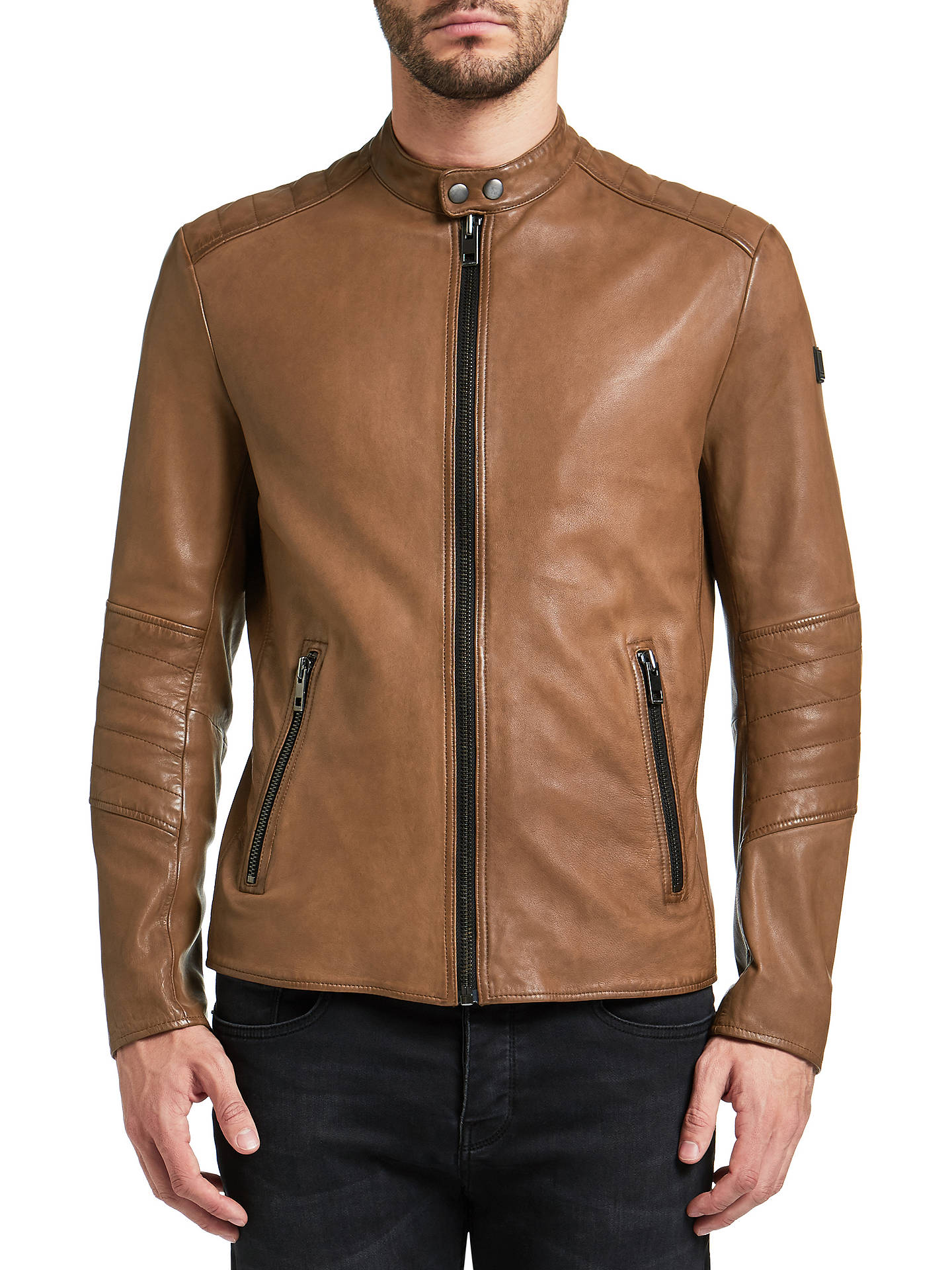 2bdce1ffe03 Buy BOSS Orange Jeeper Slim Fit Leather Jacket