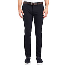 Buy BOSS Orange Slim Chino Trousers, Dark Blue Online at johnlewis.com