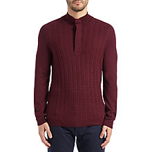 Buy BOSS Green Zakura Knit Jumper, Medium Red Online at johnlewis.com