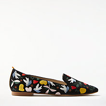 Buy Boden Folk Embroidered Pumps, Black Online at johnlewis.com