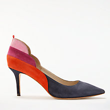 Buy Boden Carrie Stiletto Heeled Court Shoes, Multi/Navy Suede Online at johnlewis.com